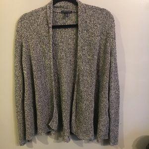 Eileen Fisher organic linen gray cardigan size L